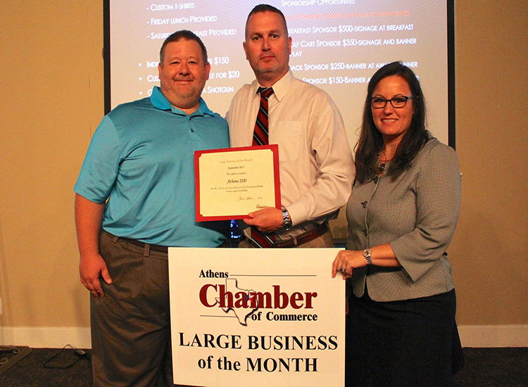 Athens ISD Named Large Business of the Month