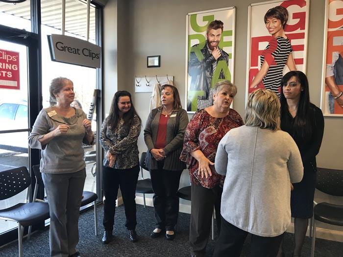 Ribbon Cutting Great Clips January 2018