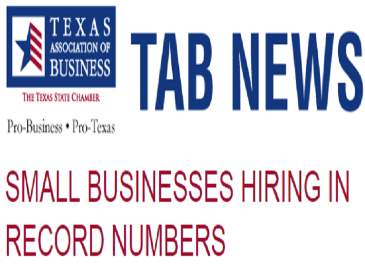 SMALL BUSINESSES HIRING IN RECORD NUMBERS