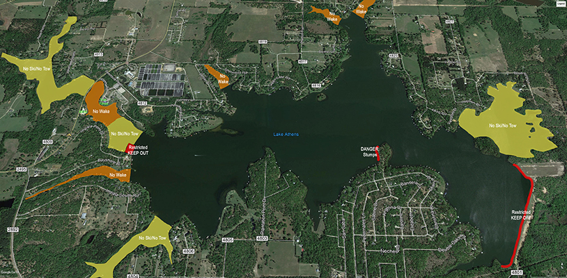 Lake Athens Buoy Map 20-0311