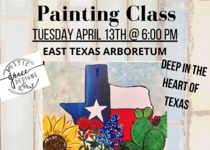 East Texas Arboretum Painting Class