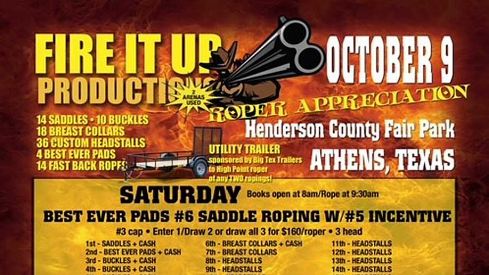 Fire It Up Productions Team Roping