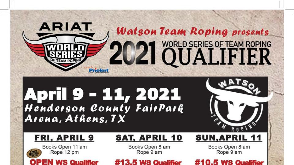 2021 World Series of Team Roping Qualifier