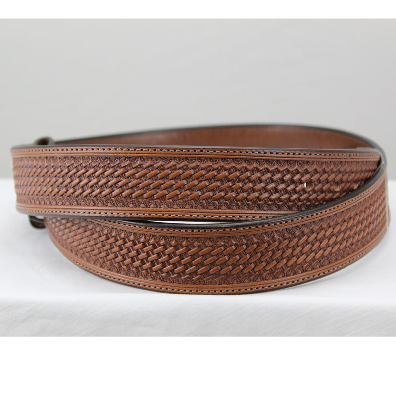 Basket Stamped Belt
