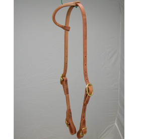 Sliding Ear Headstall w/ Bridle Buckles