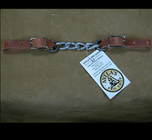 Hoyt Curb Chain w/ Leather Ends