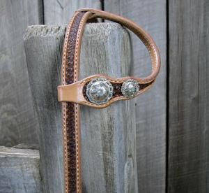 Tuxedo Headstall w/ Kansas Silver