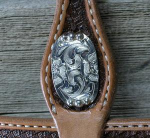 Tuxedo Headstall w/ Zuni Silver