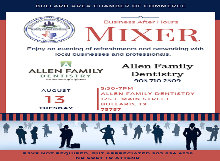 Tuesday, AUGUST 13, 2019 Business After Hours Mixer _ Allen Family Dentistry