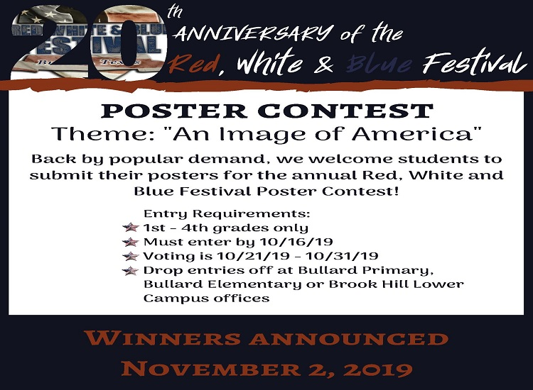 Red White and Blue Poster Contest