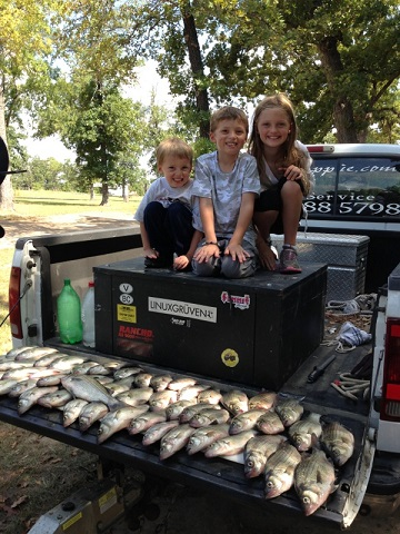 Simmons Kiddos & their Catch of the Day!