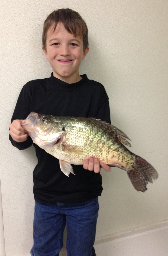 Colton holding his NEW Crappie record