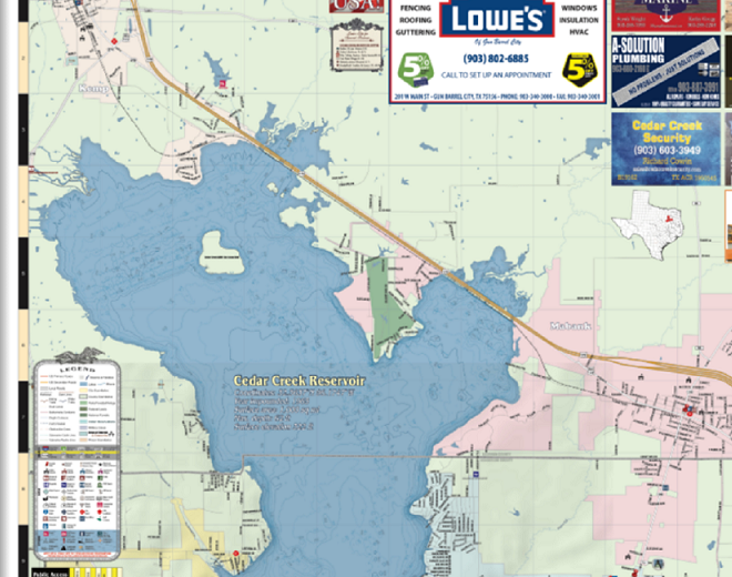 Cedar Creek Lake Detail Map Liberty Marketing