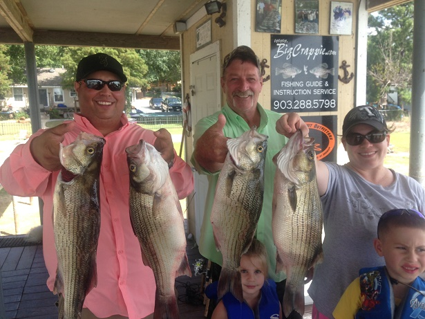 08-20-14 Peyton Hybrids with BigCrappie Guides Tx