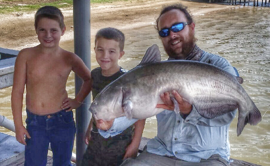 08-21-14 BlueCat 39inches with Colton and Jacob