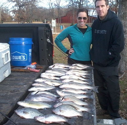 12-06-14 Thiel with BigCrappie Guides on CCL Tx