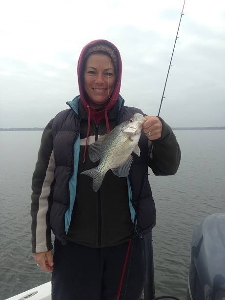 12-20-14 Samantha with BigCrappie Guides on CCL Tx