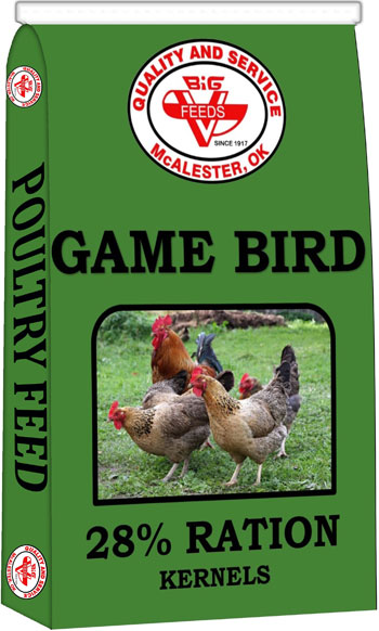Big V Game Bird Ration Kernels 28%