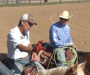 Rope Better with 4 x World Champ Allen Bach: Coaching Matt Budge on a Horse That's Never Been Roped Off