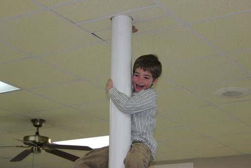 Fellowshipping with the Children: climbing the pole