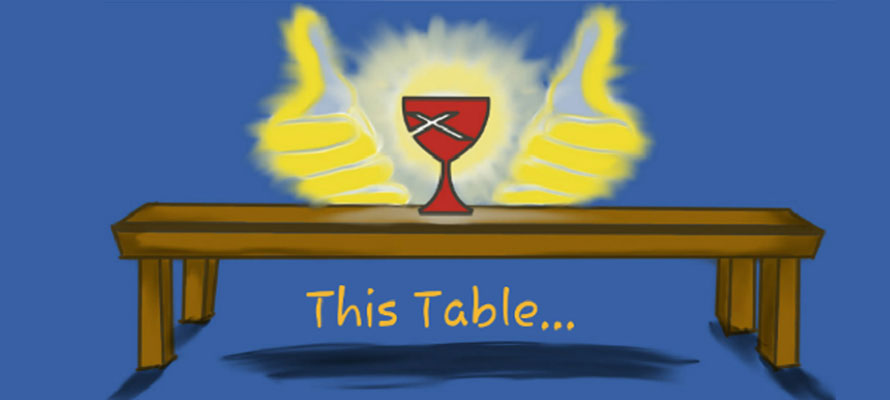 We welcome all to the Lord's Table