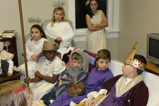 Christmas Pageant: getting ready for the christmas pageant