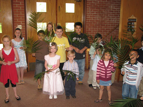 Palm Sunday: getting ready to bring in the palms
