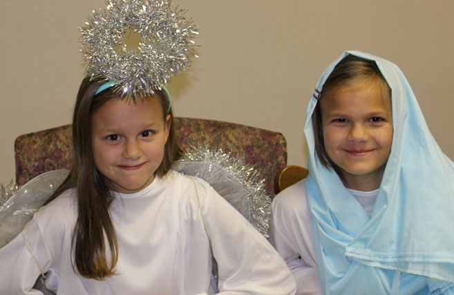 Christmas Pageant: mary and an angel