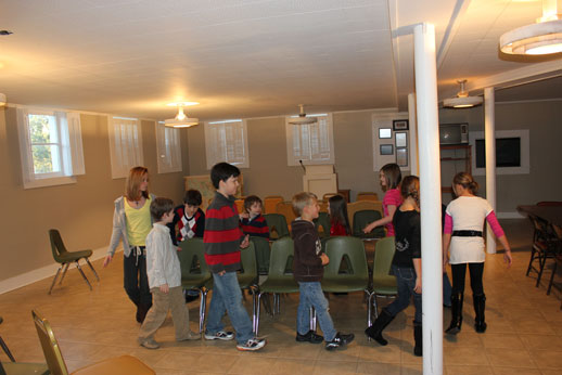 Fellowshipping with the Children: musical chairs