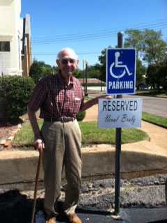 Nual Braly 's 95th Birthday: neual bralys parking spot