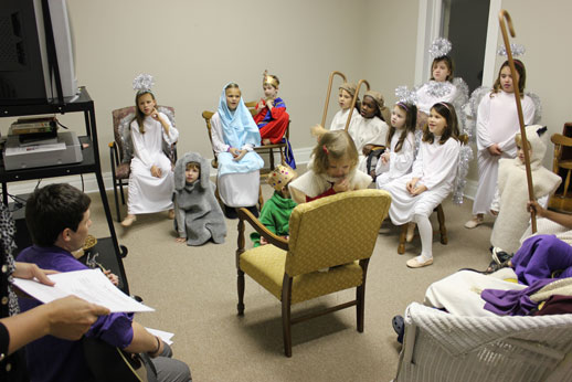 Christmas Pageant: practice