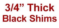 "3/4"" Saddle Shim Set - BLACK"