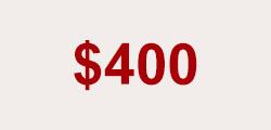 $400.00