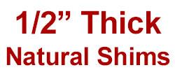 """1/2"""" Thick Saddle Shim Set"""