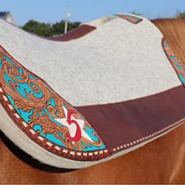 Limited Edition Hand Tooled and Hand Painted Wool 5 Star Pads