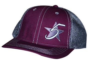 5 Star Blaze Logo Cap - Burgundy