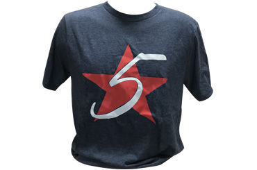 Heathered Navy 5 Star T-Shirt