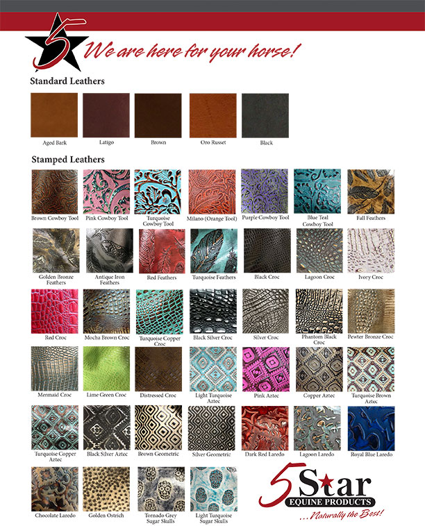 New Wear Leather Chart Felt Colors 2017 1