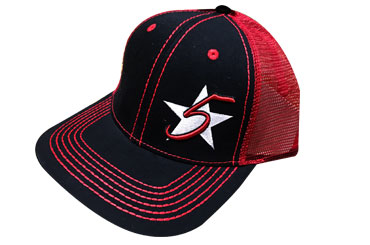 5 Star Blaze Cap - Red