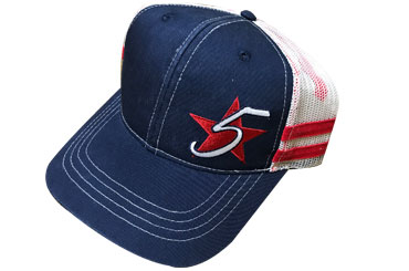 Easy Feeling Red White and Blue 5 Star Hat