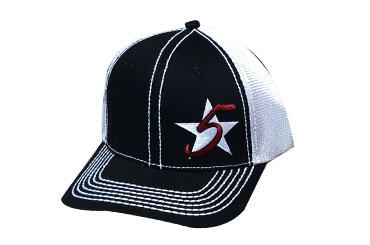 Tricolor Black 5 Star Logo Cap