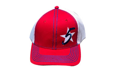 Tricolor Red 5 Star Logo Cap