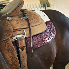 Custom Wool 5 Star Saddle Pads