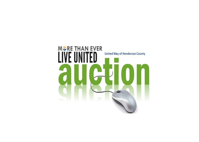 Save The Date! April 19-25, 2021    United Way of Henderson County, TX   More Than Ever Live United Online Auction
