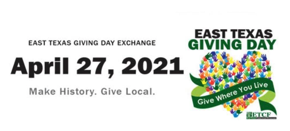 Please Donate for East Texas Giving Day