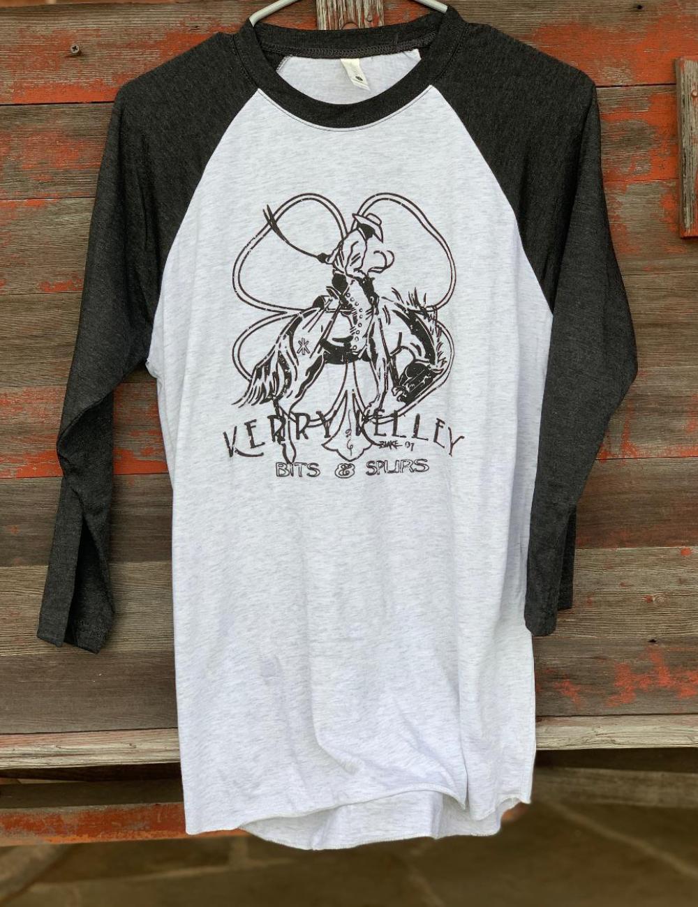 Shirt Baseball Tee KK Logo Black and White