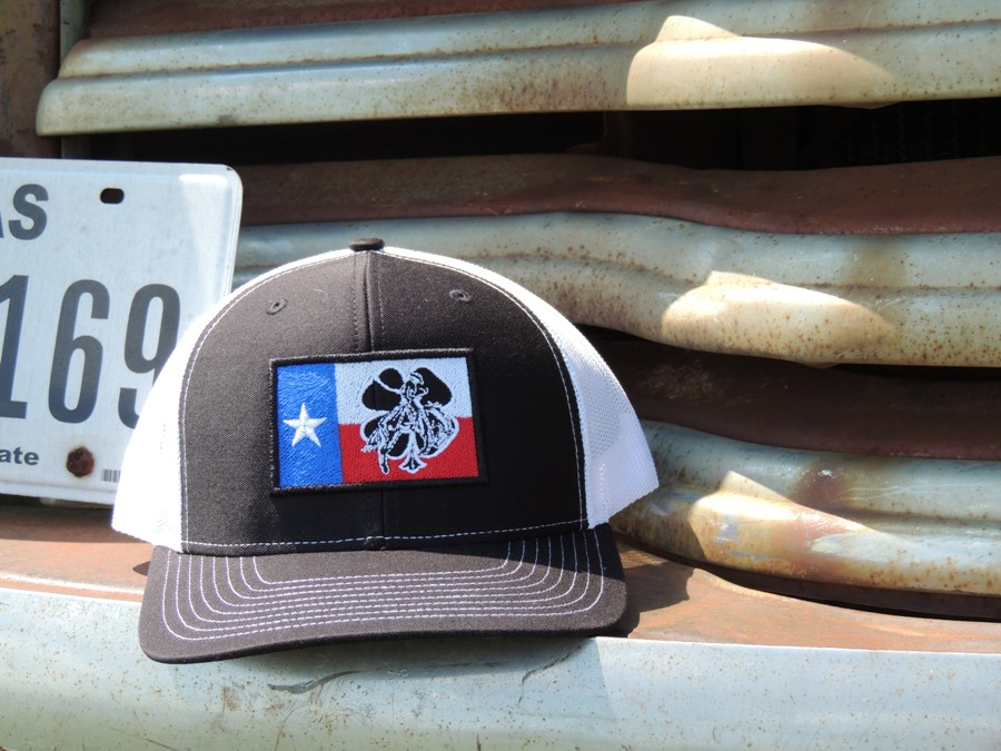 Cap Black and White Texas Flag