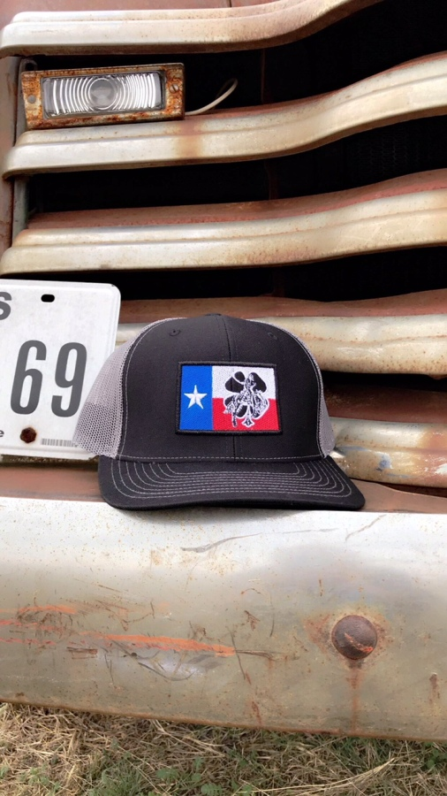 Black Texas Flag Cap