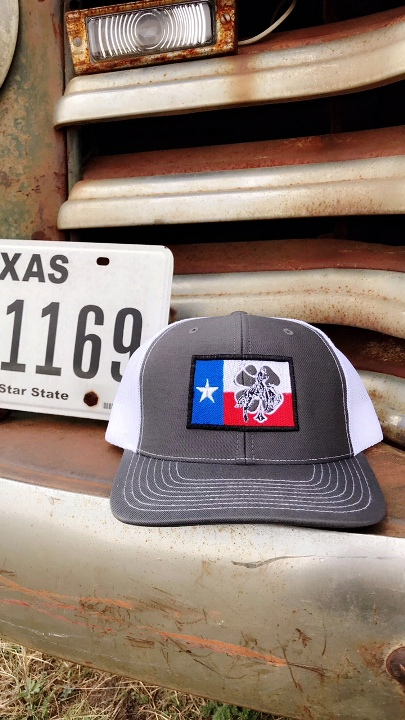 Gray Texas Flag Cap