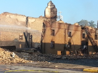 YET Image - Palestine Structure Fire - Morning After 1 - 9-29-13